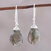 Labradorite dangle earrings,