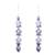 Amethyst and rainbow moonstone dangle earrings, 'Gemstone Fusion' - Amethyst and Rainbow Moonstone Dangle Earrings from India (image 2a) thumbail