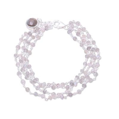 Natural Labradorite Link Bracelet from India