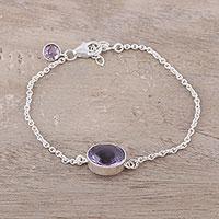 Amethyst pendant bracelet Trendy Sparkle (India)