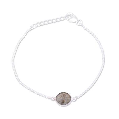 Adjustable Labradorite Pendant Bracelet from India