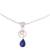 Lapis lazuli and citrine pendant necklace, 'Gleaming Midnight' - Lapis Lazuli and Citrine Pendant Necklace from India (image 2a) thumbail