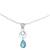 Larimar and blue topaz pendant necklace, 'Gleaming Daylight' - Larimar and Blue Topaz Pendant Necklace from India (image 2a) thumbail