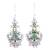 Peridot dangle earrings, 'Green Swing' - Peridot and Green Composite Turquoise Earrings from India (image 2a) thumbail