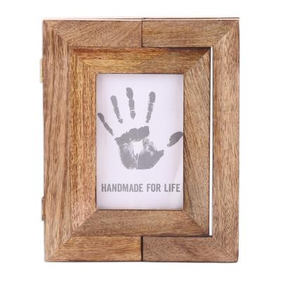 Handcrafted Mango Wood 4x6 Adjustable Photo Frame