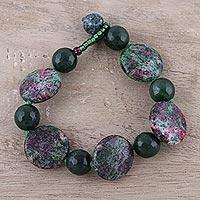 Agate beaded bracelet Lagoon Sunrise (India)