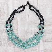 Multi-gemstone beaded necklace Sea Grandeur (India)