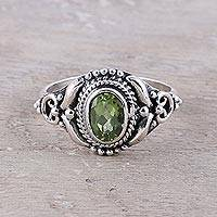 Featured review for Peridot cocktail ring, Traditional Romantic