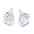 Rhodium plated blue topaz button earrings, 'Classic Paisley' - Rhodium Plated Blue Topaz Paisley Button Earrings from India (image 2a) thumbail