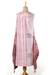 Block-printed cotton sundress, 'Spiced Wine' - Block-Printed Cotton Sundress in Wine and Eggshell (image 2d) thumbail