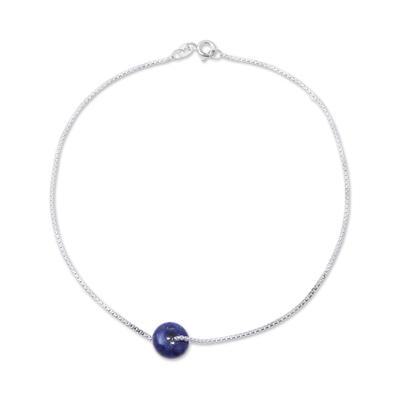 Lapis Lazuli Pendant Anklet from India