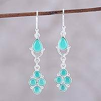 Featured review for Onyx dangle earrings, Misty Green Beauty