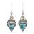 Citrine dangle earrings, 'Mythic Ocean' - Citrine and Composite Turquoise Dangle Earrings from India (image 2a) thumbail