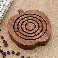 Wood maze game,