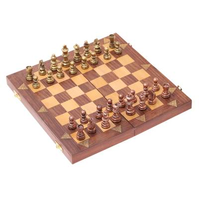 Handcrafted Chess Set in Acacia and Haldu Wood from India