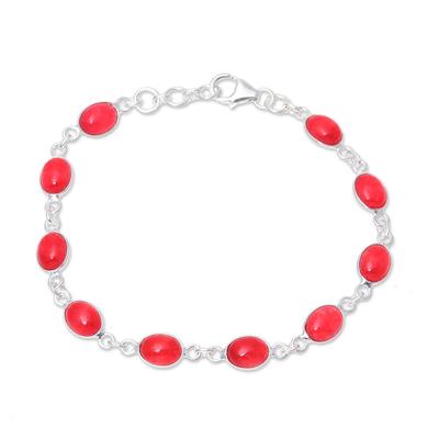 Jasper Link Bracelet from India