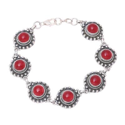 Red Jasper Link Bracelet from India