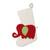 Wool felt stocking, 'Holiday Elephant in Red' - Red Green and Ivory Elephant Theme Stocking (image 2a) thumbail
