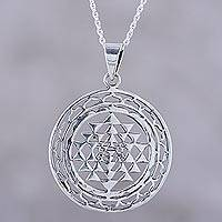 Featured review for Sterling silver pendant necklace, Om in Symmetry