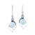 Blue topaz and larimar dangle earrings, 'Secret Allure' - Blue Topaz and Larimar Dangle Earrings Crafted in India (image 2a) thumbail