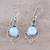 Blue topaz and larimar dangle earrings, 'Secret Allure' - Blue Topaz and Larimar Dangle Earrings Crafted in India (image 2b) thumbail
