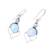 Blue topaz and larimar dangle earrings, 'Secret Allure' - Blue Topaz and Larimar Dangle Earrings Crafted in India (image 2c) thumbail