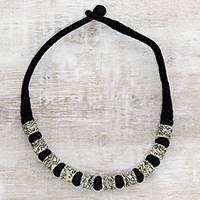 Featured review for Buffalo bone beaded necklace, Storytelling