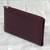 Leather wallet, 'Classic Woman in Maroon' - Handcrafted Leather Wallet in Maroon from India thumbail