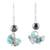Turquoise and hematite dangle earrings, 'Dancing Turquoise' - 925 Sterling Silver Hematite and Turquoise Dangle Earrings (image 2a) thumbail