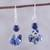 Lapis lazuli dangle earrings, 'Dances in Blue' - 925 Sterling Silver and Lapis Lazuli Dangle Earrings thumbail