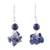 Lapis lazuli dangle earrings, 'Dances in Blue' - 925 Sterling Silver and Lapis Lazuli Dangle Earrings (image 2a) thumbail