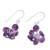 Amethyst dangle earrings, 'Dances in Purple' - Handcrafted 925 Sterling Silver and Amethyst Dangle Earrings (image 2c) thumbail