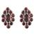 Garnet button earrings, 'Radiant Crimson' - Handcrafted Garnet and Sterling Silver Button Earrings (image 2a) thumbail