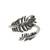 Sterling silver wrap ring, 'Feathery Touch' - Sterling Silver Feather Wrap Ring from India (image 2a) thumbail
