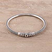 Sterling silver bangle bracelet,