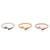 Gold plated, rose gold plated, and sterling silver band rings, 'Dog Bones' (set of 3) - 3 Gold, Rose Gold Plated, and Sterling Silver Band Rings (image 2a) thumbail