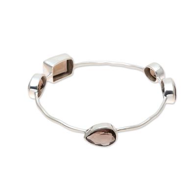 Smoky Quartz Bangle Bracelet from India