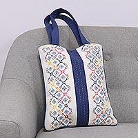 Cotton shoulder bag Vibrant Embroidery (India)