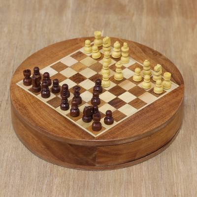Wood chess set, Brain Power
