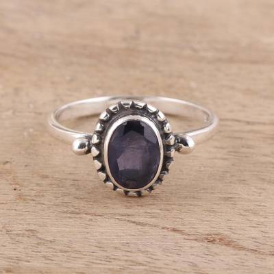 Iolite cocktail ring, 'Magical Gem' - Iolite Cocktail Ring Crafted in India