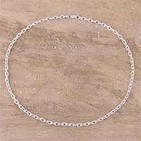 Featured review for Sterling silver chain necklace, Bold Sheen