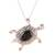 Onyx pendant necklace, 'Magical Turtle' - Black Onyx Turtle Pendant Necklace from India (image 2a) thumbail