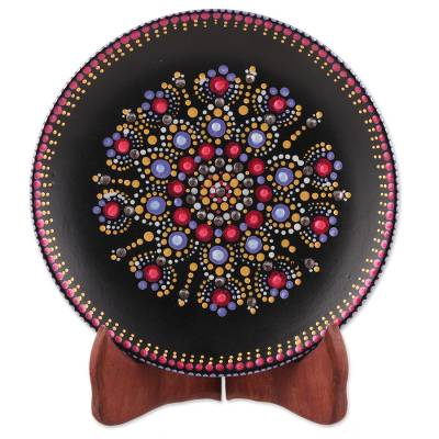 Artisan Crafted Ceramic Decorative Plate from India