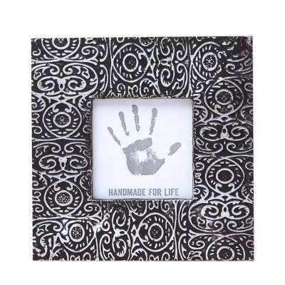 Embossed Aluminum Photo Frame from India (3x3)