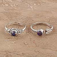 Sterling silver rings,