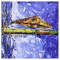 'Hat of Santiago' - Signed Nautical Impressionist Painting from India