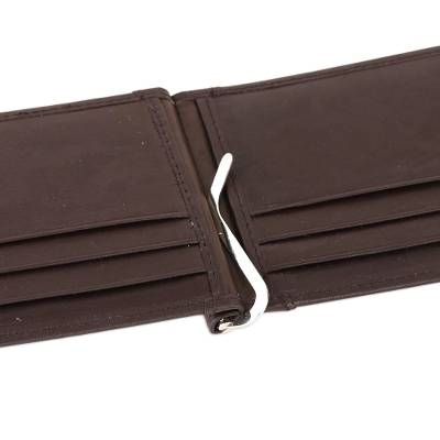 Leather wallet, 'Solid Espresso' - Handcrafted Leather Wallet in Espresso from India