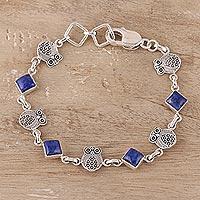 Lapis lazuli link bracelet,