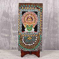'Kathakali' - Signed Kathakali-Themed Cultural Painting from India