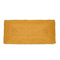 Jute area rug, 'Rectangular Beauty in Maize' (2x3.5) - Handwoven Jute Area Rug in Maize from India (2x3.5)